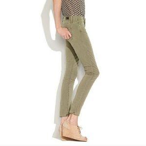 Paige Olive Green Skyline Ankle Peg Skinny Jean 28